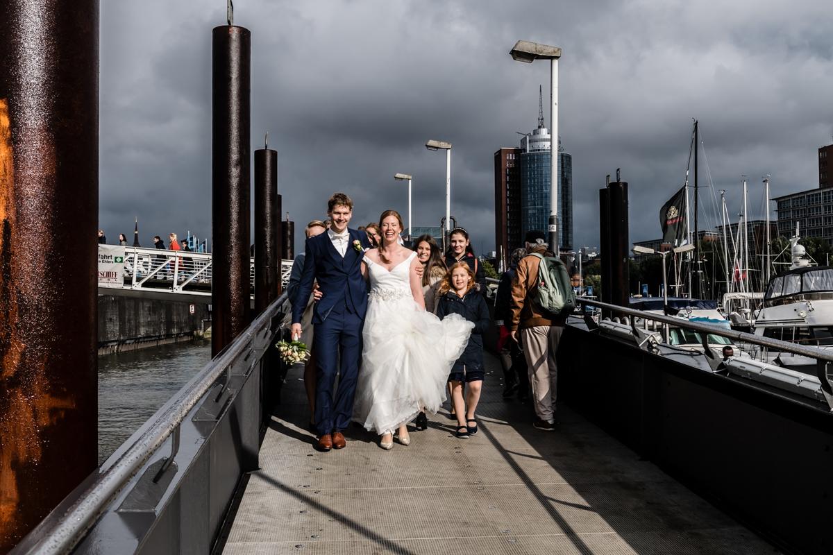 Hochzeitsfotograf im Hamburger Hafen